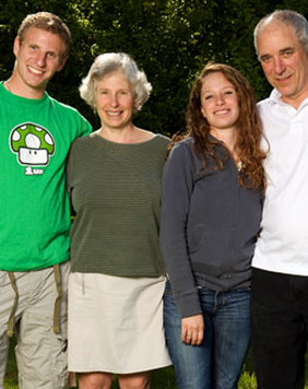 Cynthia Jaffe with Family
